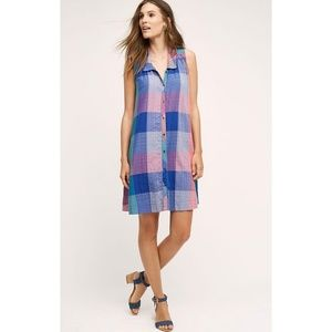 Anthropologie Holding Horses Ronan Plaid Dress XS